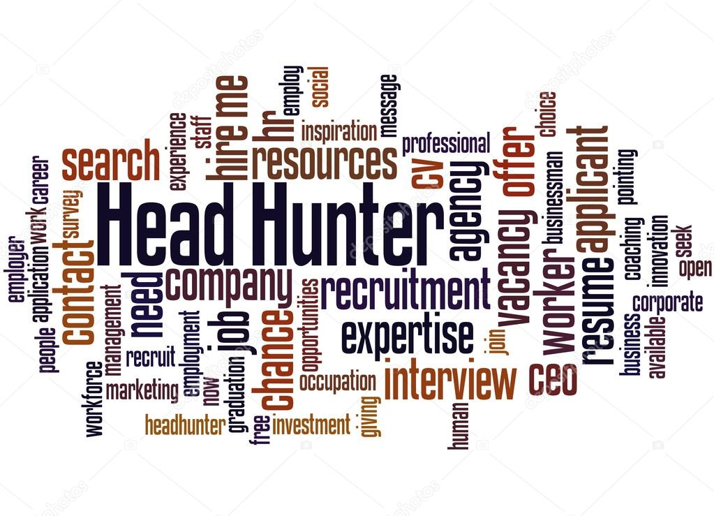 Head Hunter, word cloud concept \u2014 Stock Photo © kataklinger #113845444