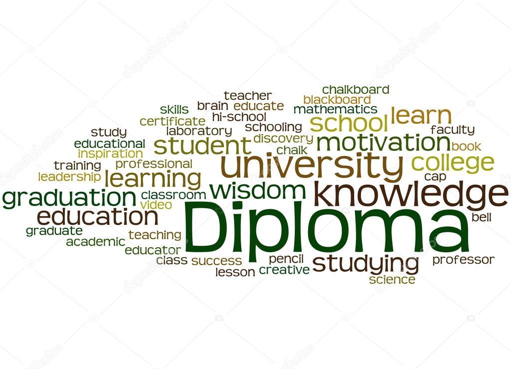 Fondos de diplomas para word Diploma, concepto de nube de word 8