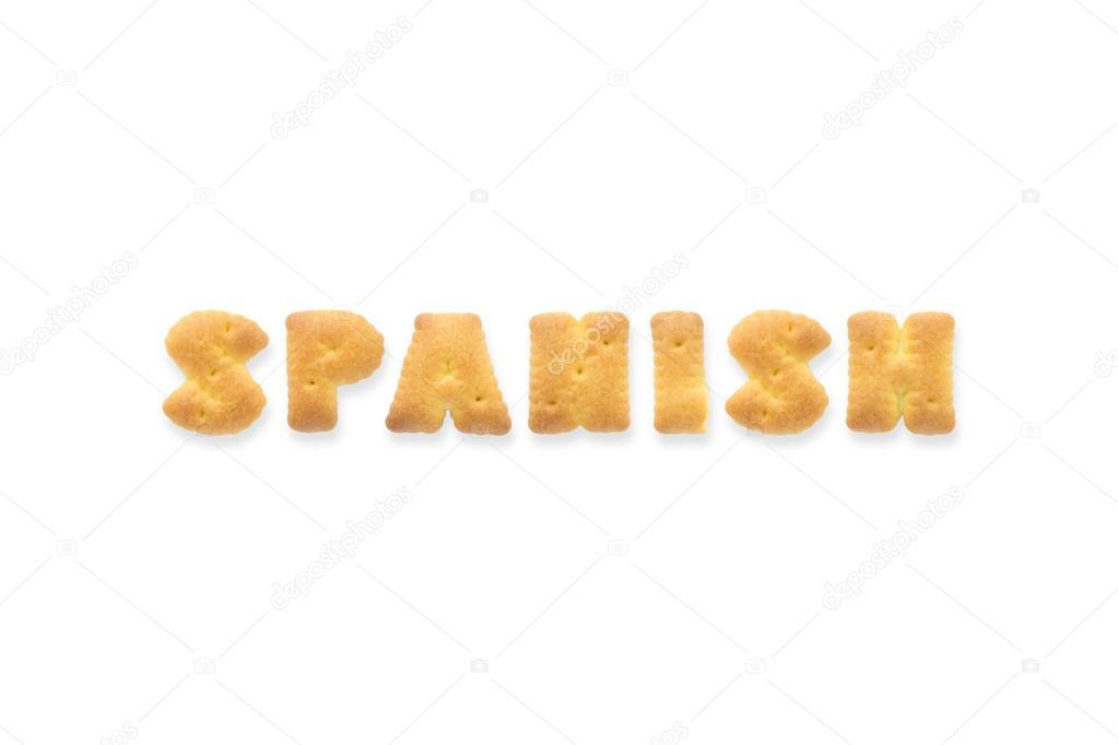The Letter Word SPANISH Alphabet Cookie Cracker \u2014 Stock Photo - alphabet in spanish