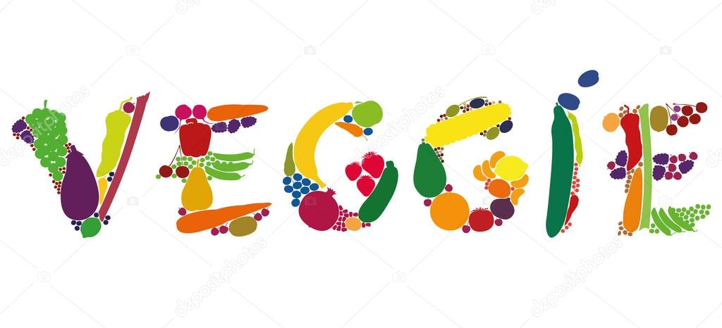 Veggie Fruit Vegetables Word Letters \u2014 Stock Vector © Furian #76071603 - word with the letters