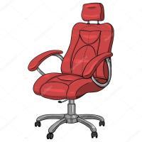 Cartoon Red Office Armchair  Stock Vector  nikiteev ...