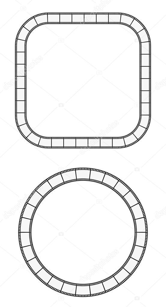 film reel frame round \u2014 Stock Vector © igarts #54560295