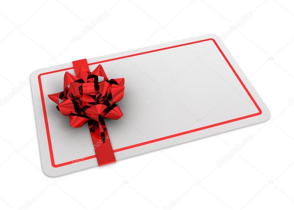blank gift card concept 3d illustration \u2014 Stock Photo © mstanley