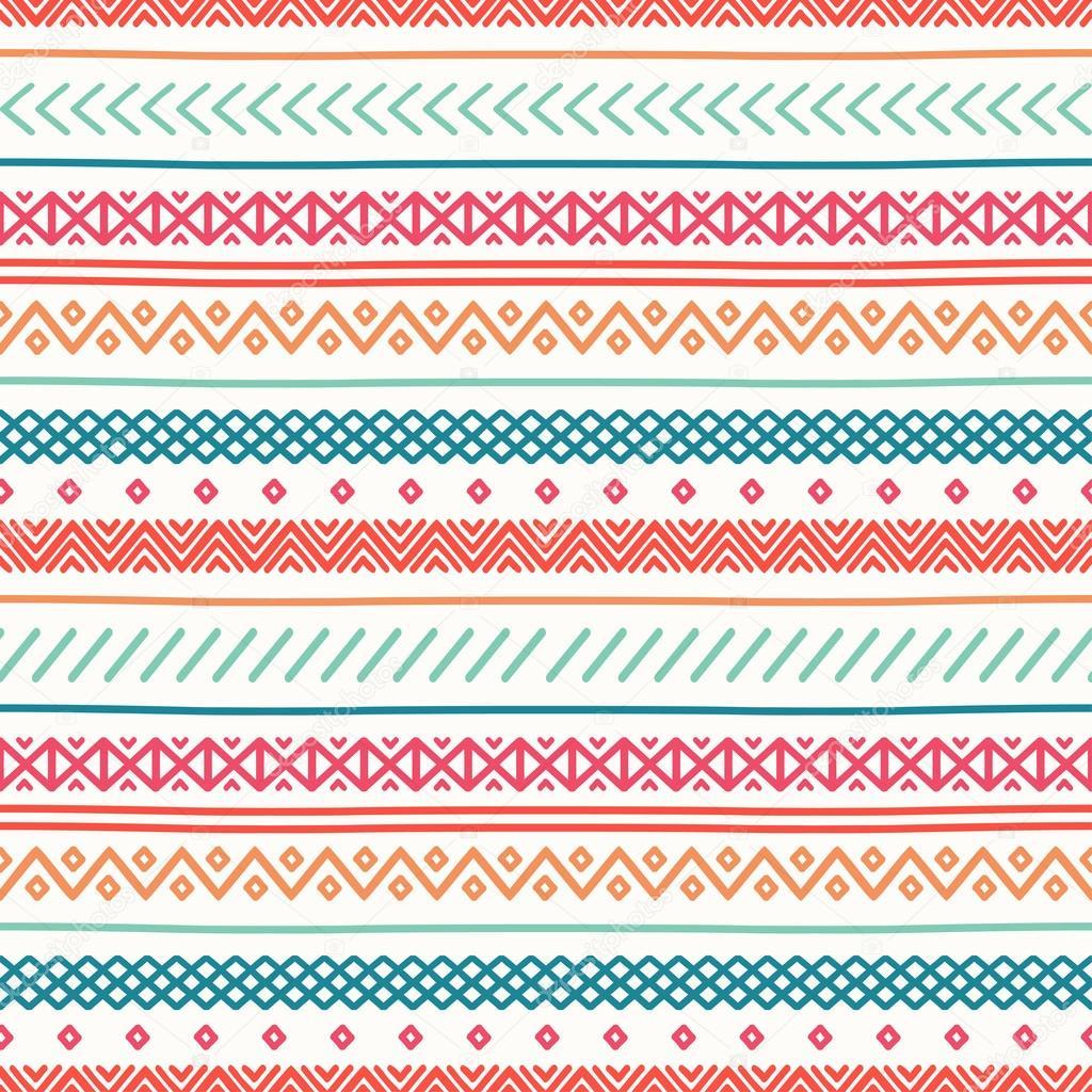Tribal Cute Wallpaper Tribal Hand Drawn Line Geometric Mexican Ethnic Seamless