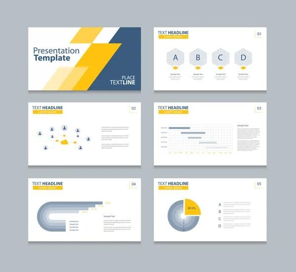 Orange triangle presentation templates, Infographic elements