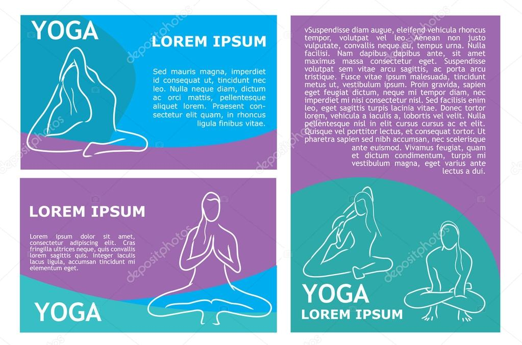 vector yoga flyer template \u2014 Stock Vector © Lemuur #104676936 - yoga flyer
