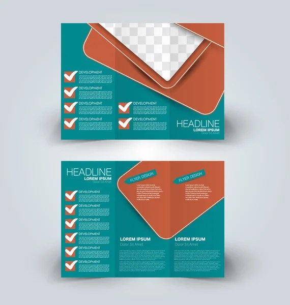 Brochure design template for business education advertisement - advertisement brochure