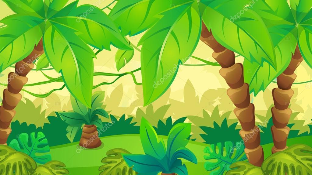 Animated Jungle Wallpaper Fondo De La Selva Con La Palma Archivo Im 225 Genes