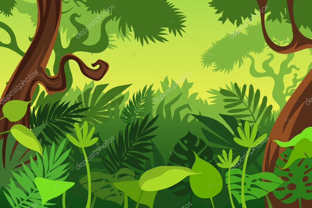 Free Animated Frog Wallpaper Dibujos Animados Fondo Selva Vector De Stock