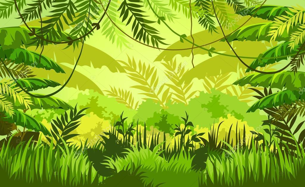 Animated Jungle Wallpaper Tropic Jungle Background Stock Vector 169 Scorpion333