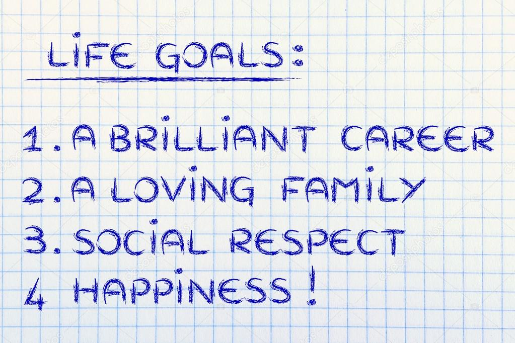 List of life goals \u2014 Stock Photo © Faithie #77790046 - list of career goals