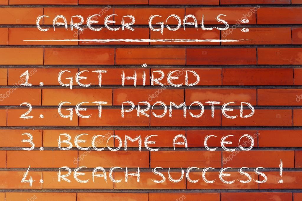 List of career goals \u2014 Stock Photo © Faithie #77791932 - list of career goals