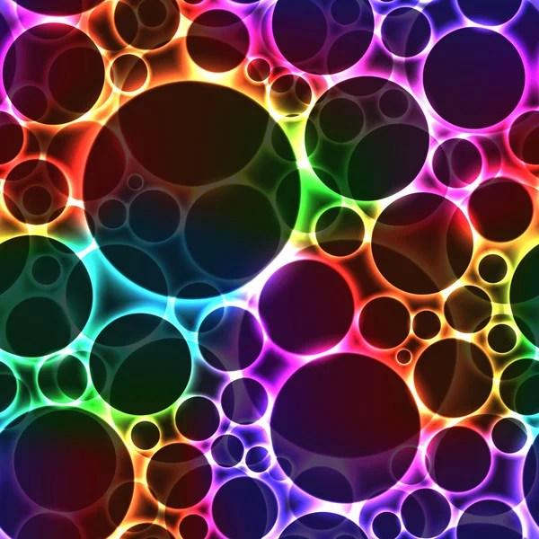 Drops Rainbow 3d Wallpaper Neon Rainbow Color Bright Bubbles Seamless Background