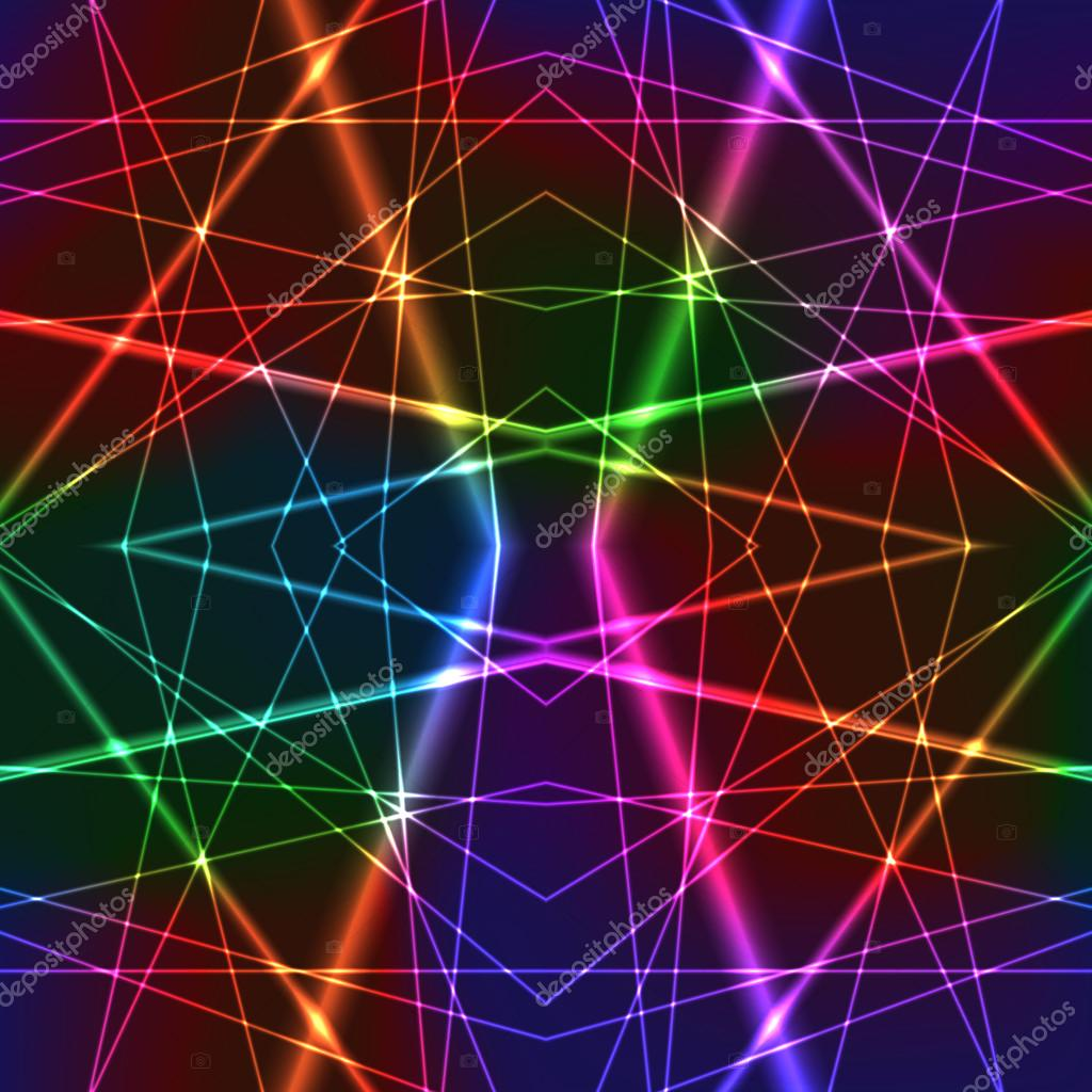 Arte 3d Wallpaper Price Neon Rainbow Colorful Laser Seamless Background Stock