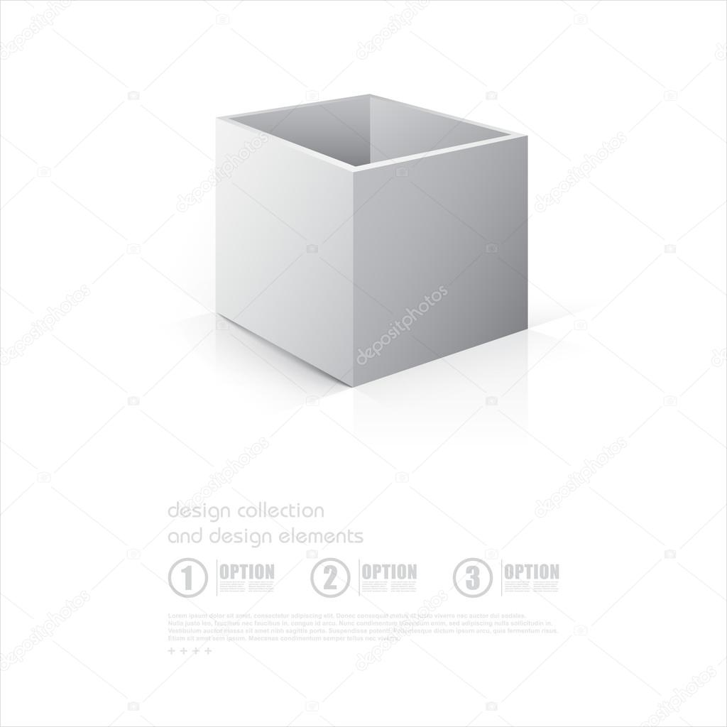 3d Open 3d Open Box Mockup Stock Vector Galastudio 77064769