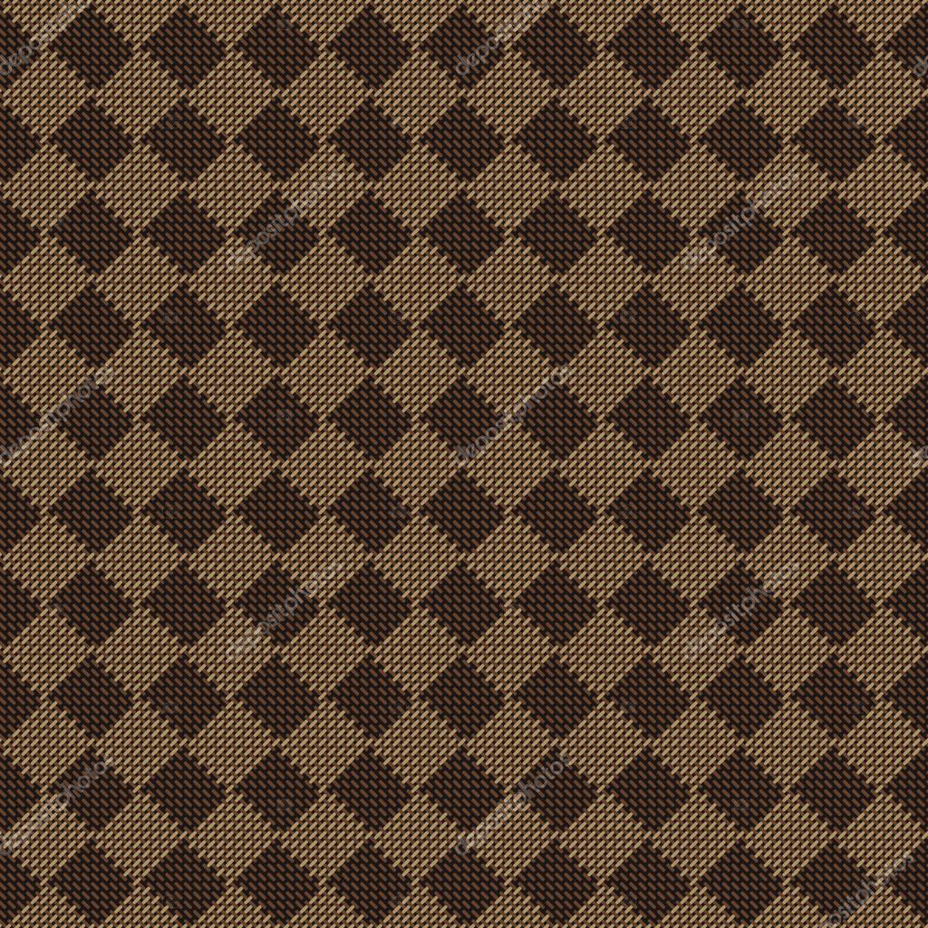 Brown Seamless Fabric Textures Diagonal Square Brown Beige Seamless Fabric Texture Pattern