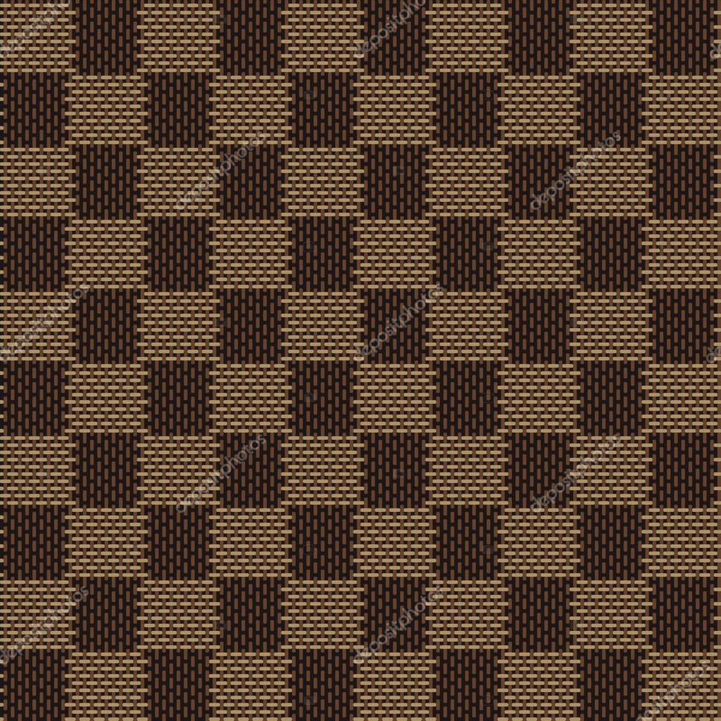 Brown Seamless Fabric Textures Square Brown Beige Seamless Fabric Texture Pattern Stock Vector