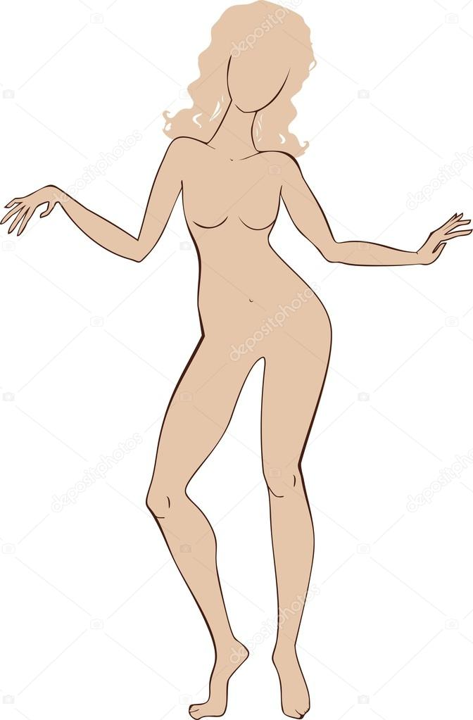 Female body template \u2014 Stock Vector © mariaflaya #100599934