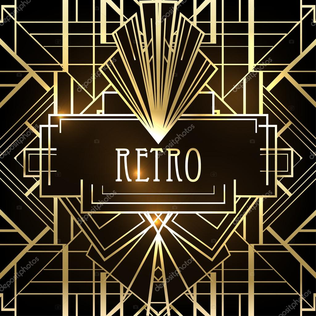 Retro Deko Art Deco Geometric Retro Pattern Stock Vector Vgorbash