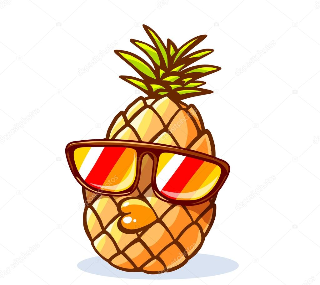 Pineapple With Sunglasses Tumblr Hipster Pineapple With Sunglasses Stock Vector