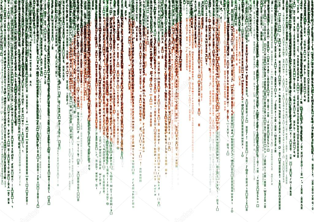 Matrix Falling Code Wallpaper Download Matrix Code On White Background Stock Photo 169 A3701027d
