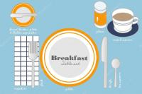BREAKFAST TABLE SETTING  Stock Vector  commonthings ...