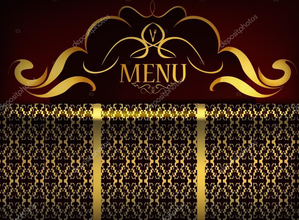 restaurant menu design patterned background \u2014 Stock Vector