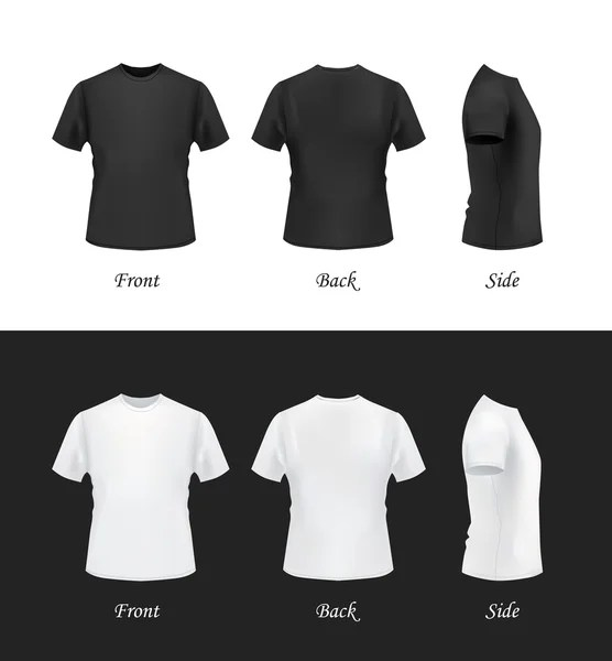 T-shirt mockup set, front, side, back view \u2014 Stock Vector © Kir