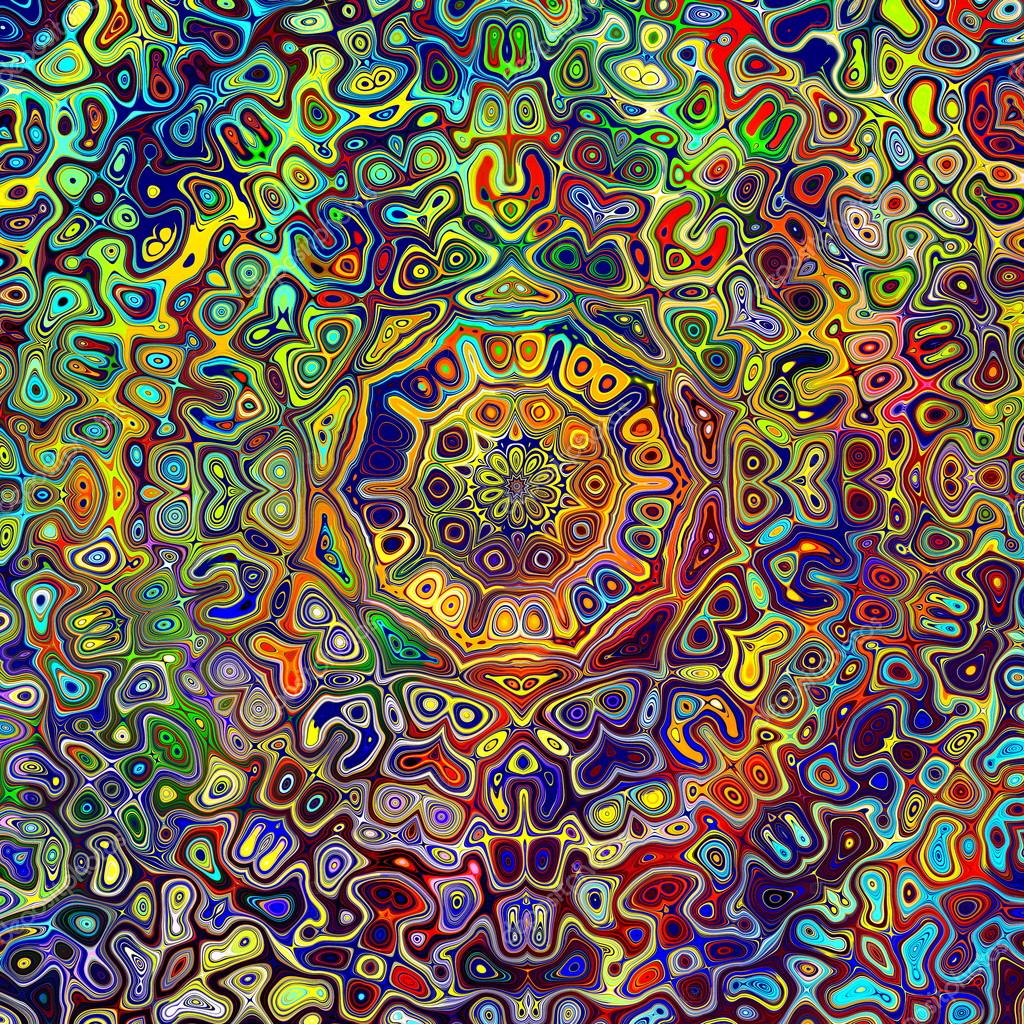 Lsd Wallpaper Iphone 6 Colorful Psychedelic Mandala Pattern Unique Creative