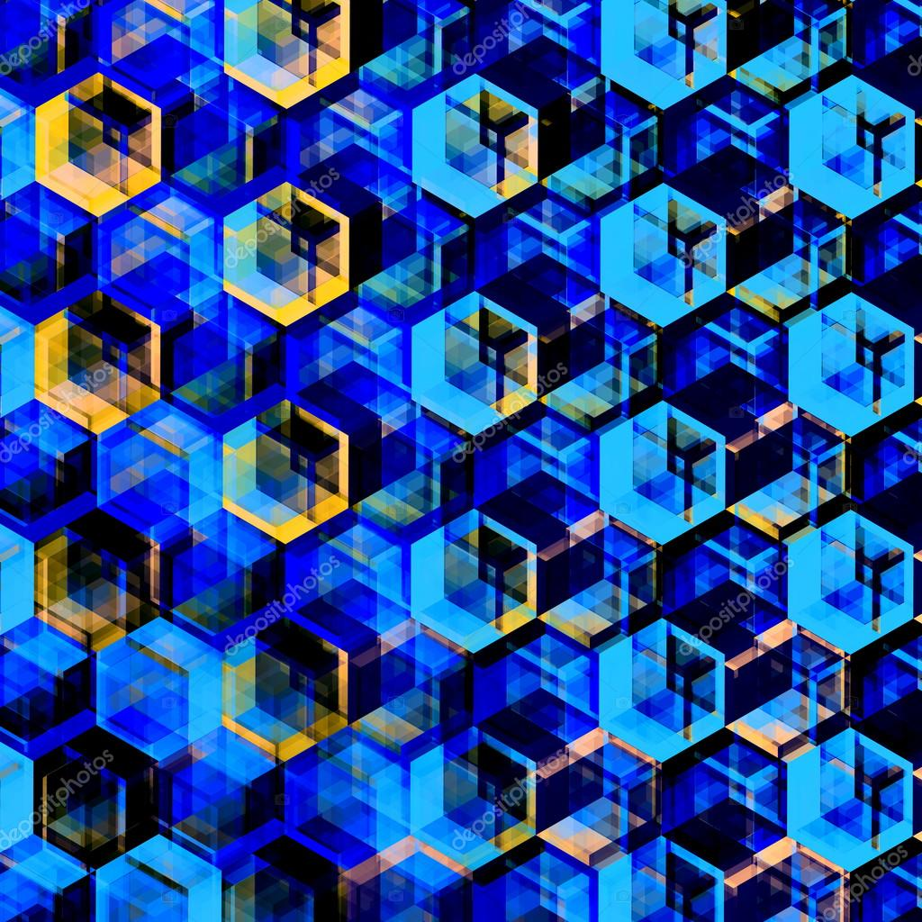 Blue Modern Wallpaper Texture Abstract Blue Hexagons Background Modern Hexagonal Color