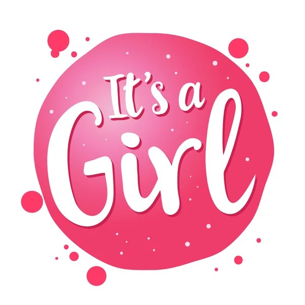 It\u0027s a girl Vector congratulation card Cute illustration for baby