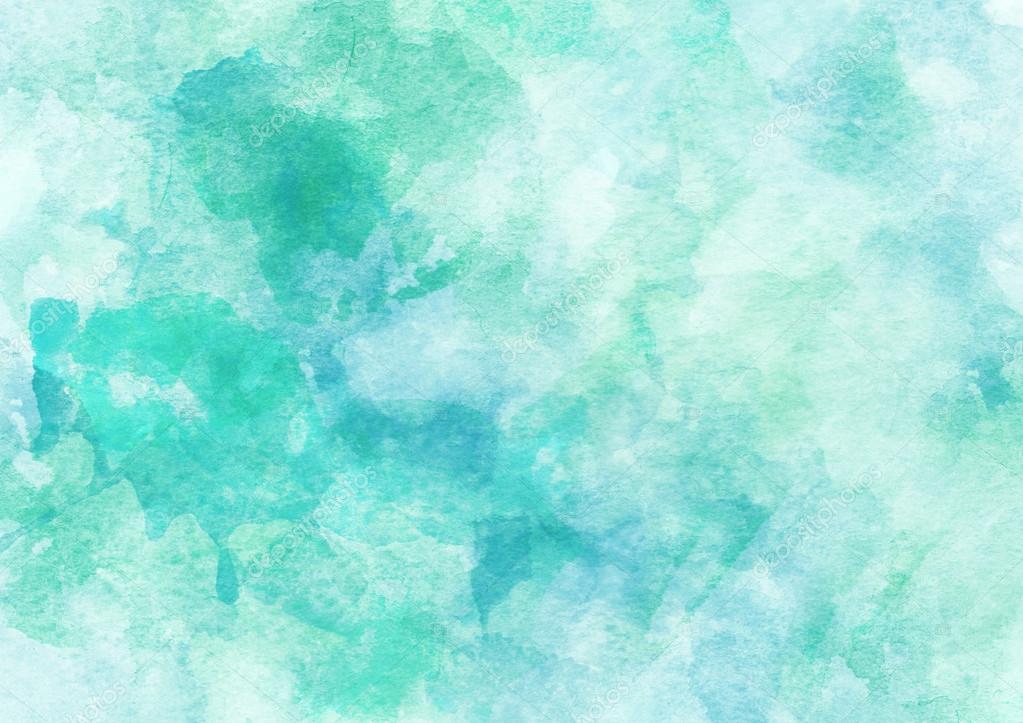 Cute Aqua Green Wallpaper 蓝色水彩背景 图库照片 169 Love Kay#62693013