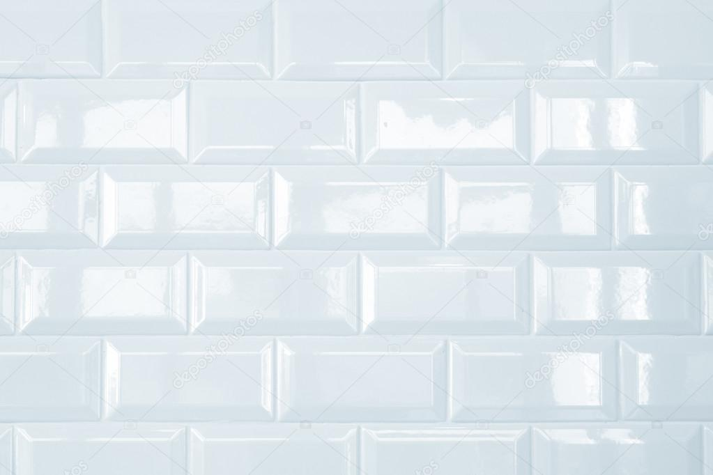 3d Peel And Stick Brick Wallpaper White Ceramic Brick Tile Wall Background Stock Photo
