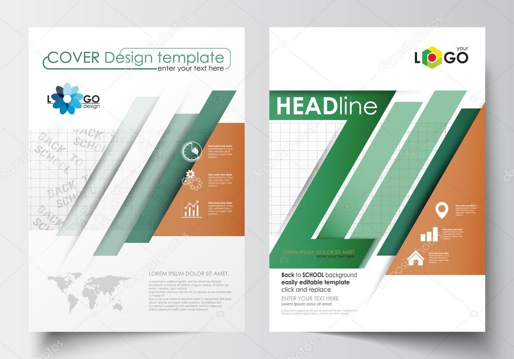 Business templates for brochure, magazine, flyer, booklet or annual