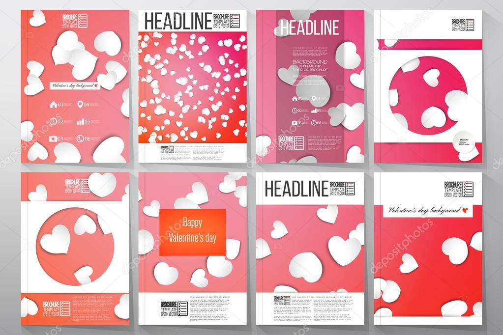 Set of business templates for brochure, flyer or booklet White