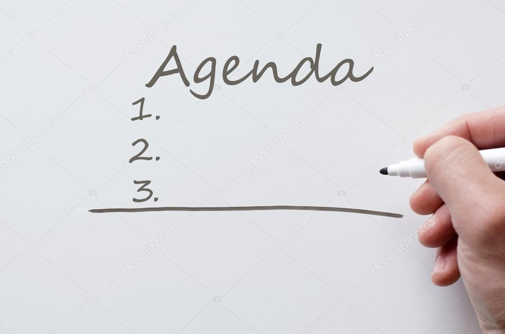 Agenda written on whiteboard \u2014 Stock Photo © Petenceto #112146490