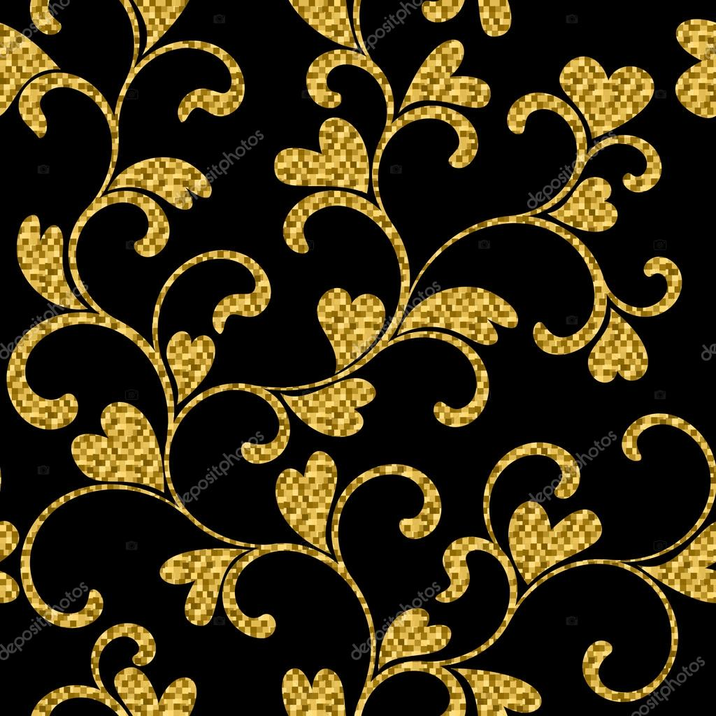 Purple And Black Damask Wallpaper Gold And Black Swirls Www Pixshark Com Images