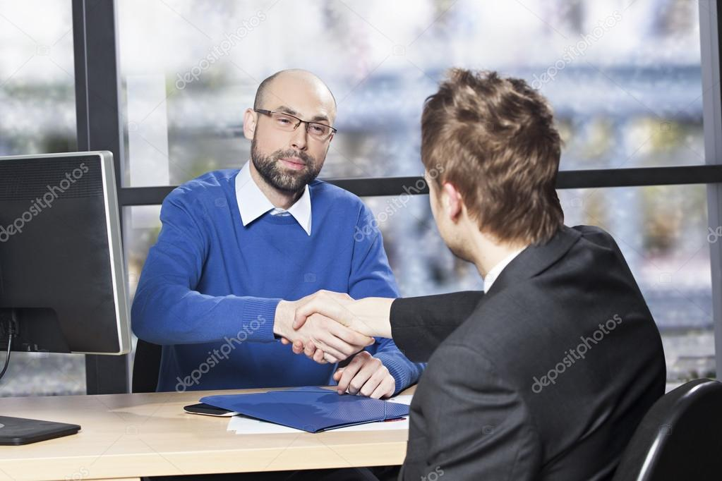 Successful job interview \u2014 Stock Photo © rilueda #55371999