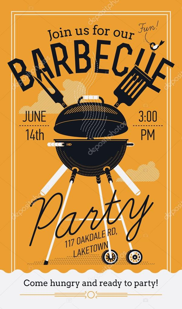 BBQ, barbecue party flyer u2014 Stock Vector © masha_tace #74089523 - bbq flyer
