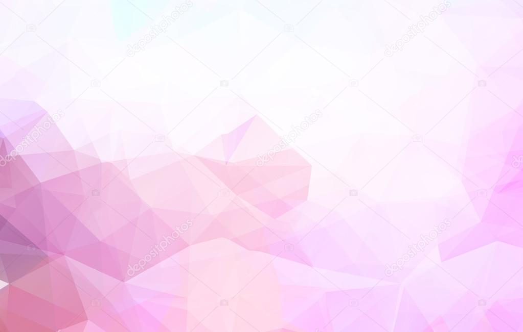 Pink low poly backgroundlorful geometric made of triangular
