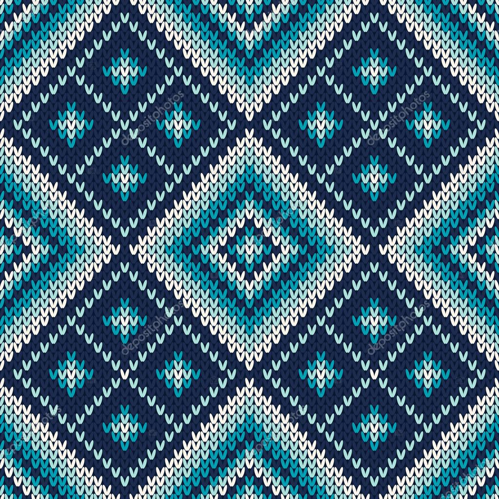 10 knitted vector seamless patterns