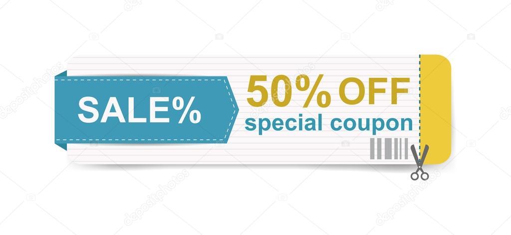 Sale Coupon certificate template Vector illustration \u2014 Stock Vector