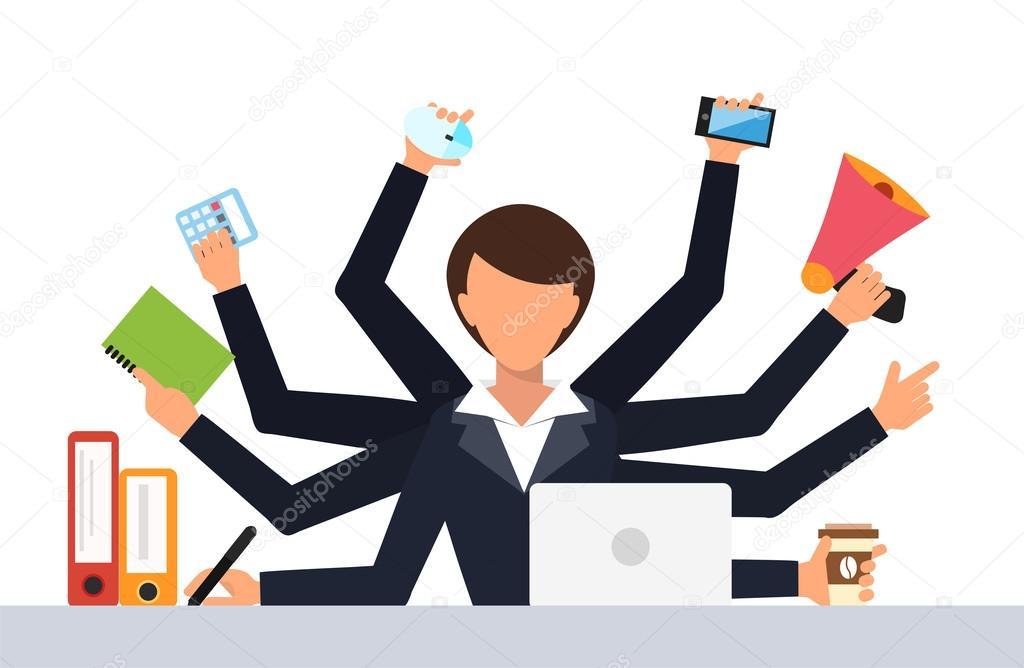 Office job stress work vector illustration \u2014 Stock Vector © adekvat