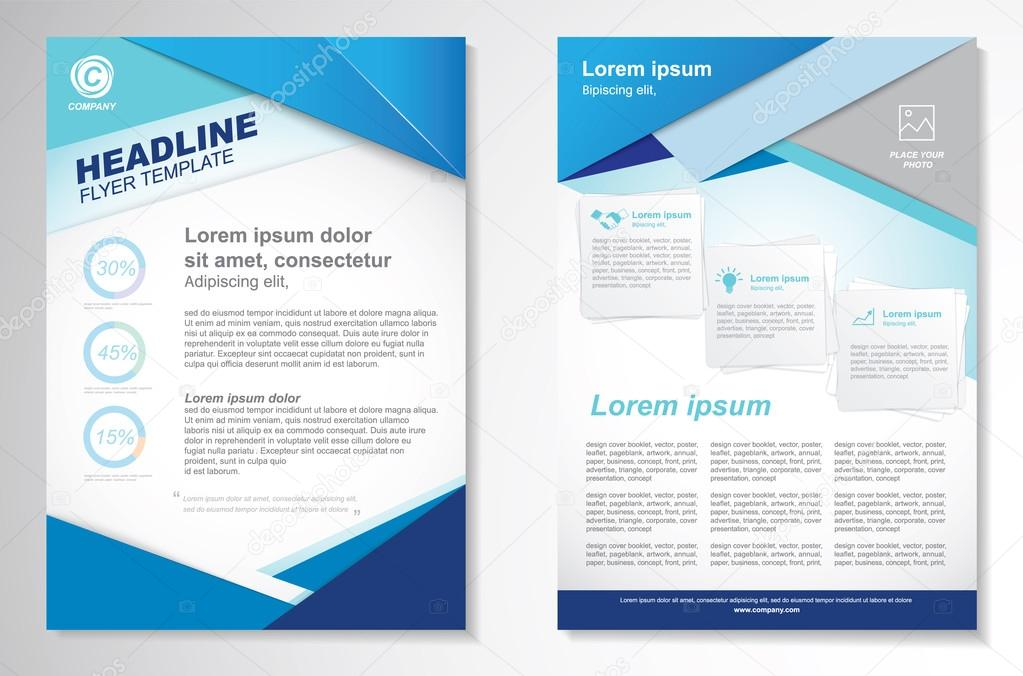 Vector Brochure Flyer design Layout templateinfographic \u2014 Stock