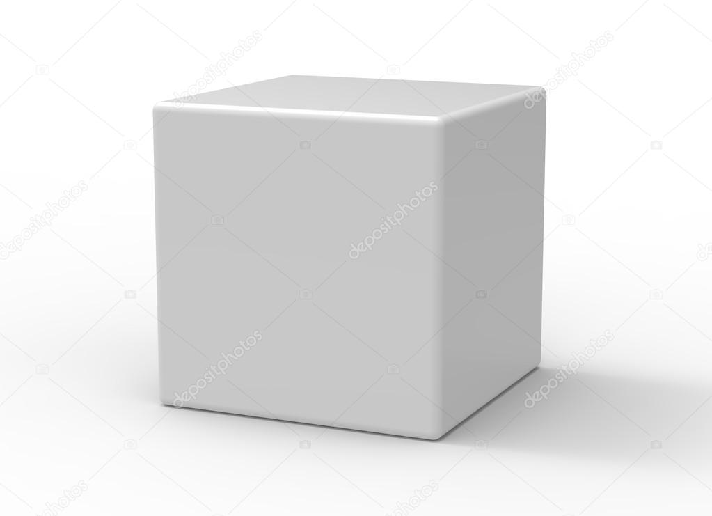 3d cube on white background \u2014 Stock Photo © efks #54844927
