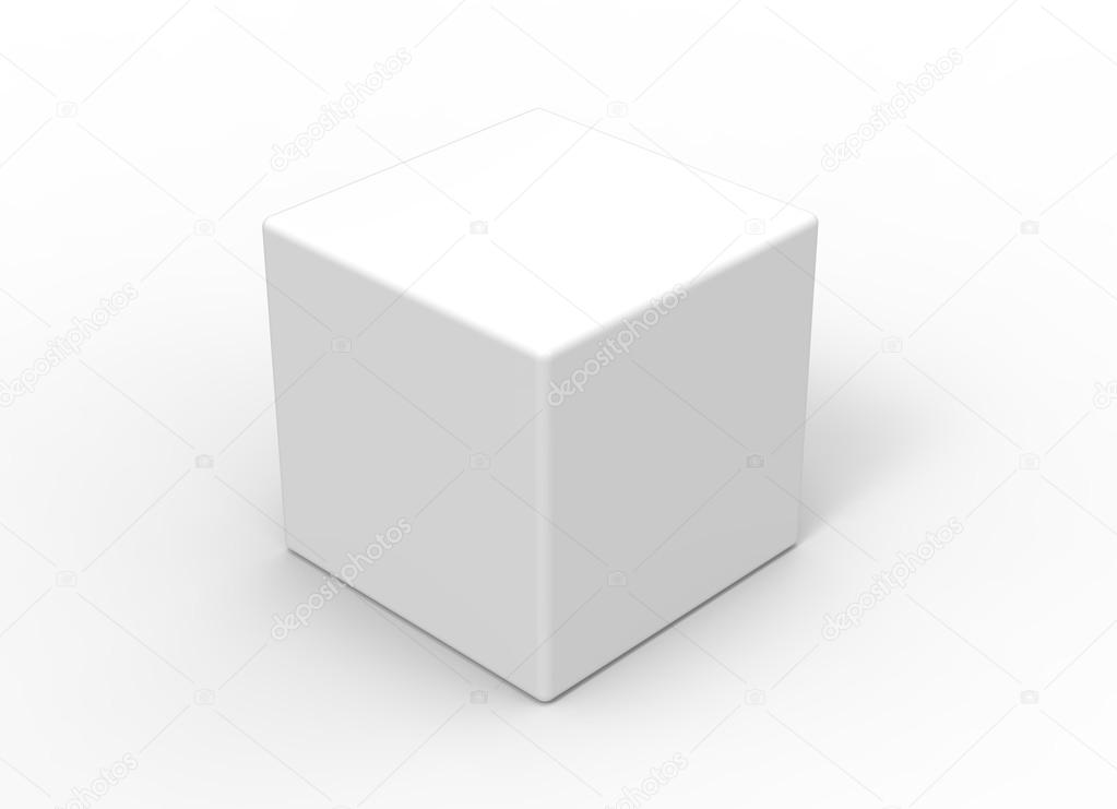 3d cube on white background \u2014 Stock Photo © efks #54844951