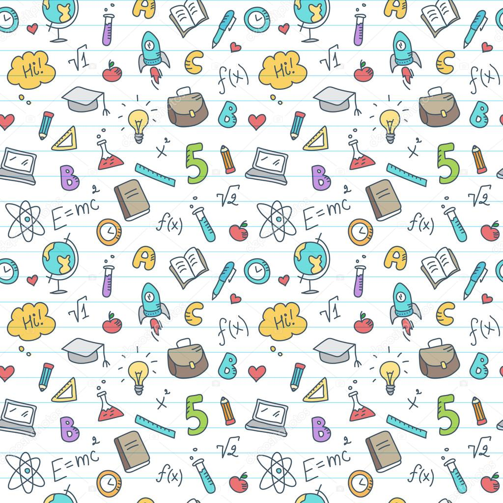 Cute Small Baby Wallpapers Hd Vector Hand Drawn Study Accessories Seamless Pattern Cute