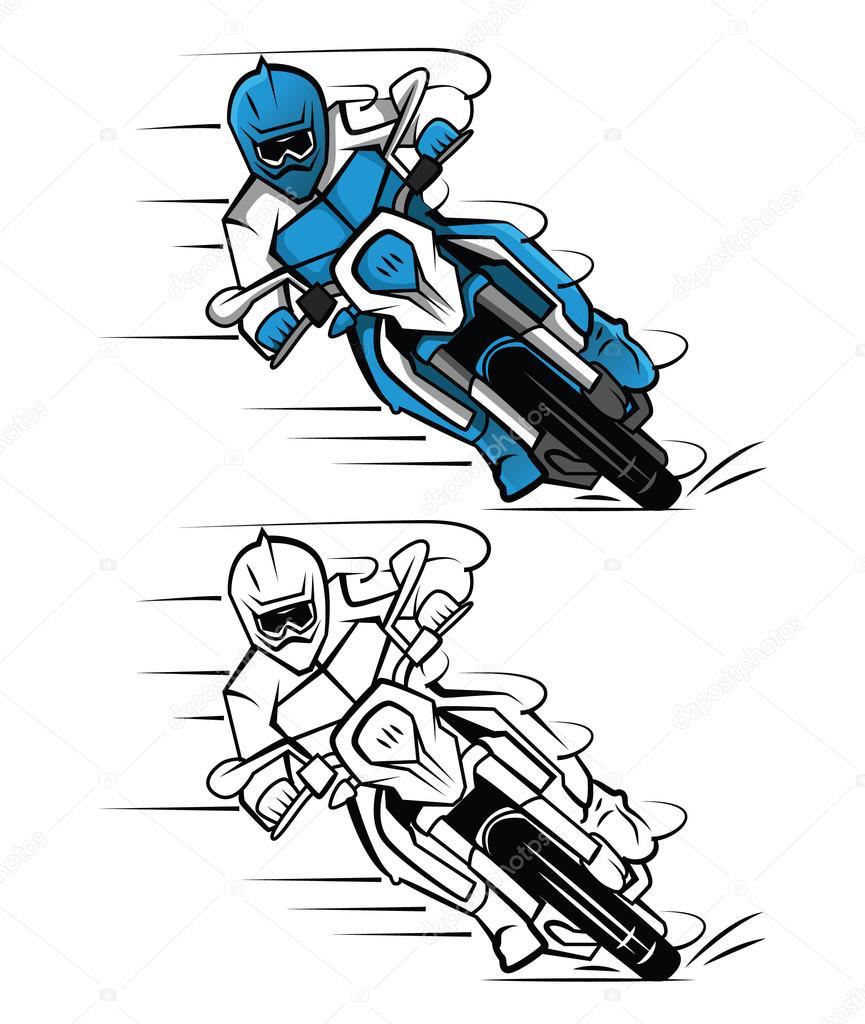 Disegni Da Colorare Libro Moto Cross Personaggio Dei