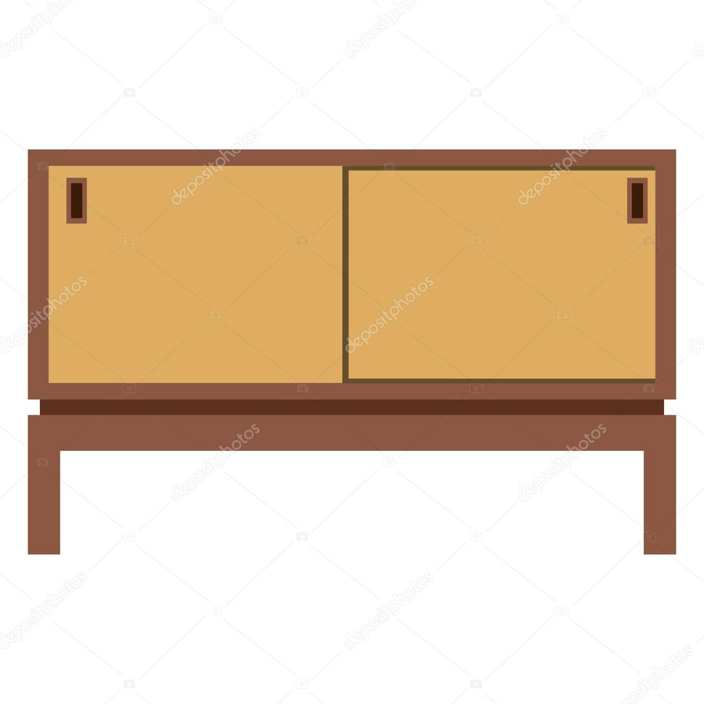 Muebles Para Tv Retro Mueble De Tv Retro Furnite Vector De Stock Viktorijareut 97800380