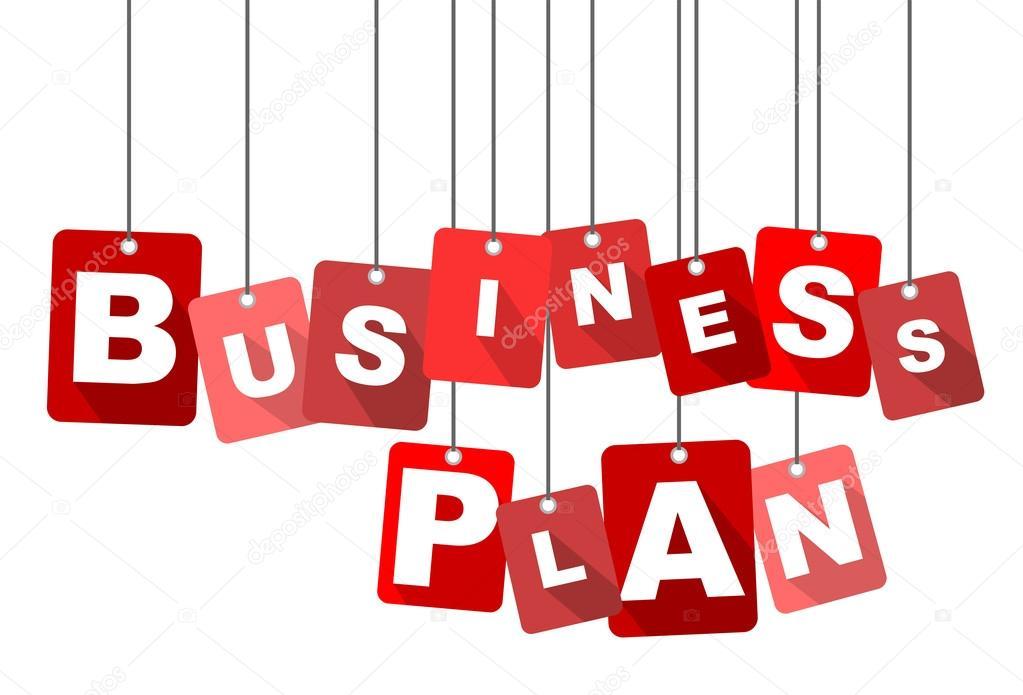 business plan, red vector business plan, flat vector business plan
